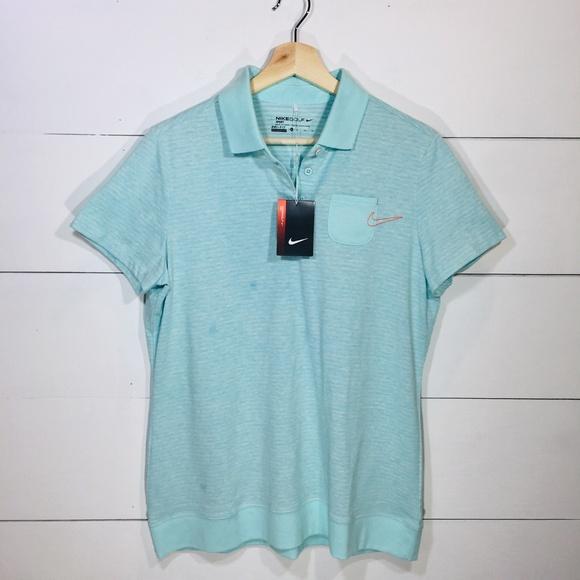 40afd0b17e500 NIKE GOLF SPORT Dri Fit Women s Polo Shirt Top XL